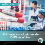 PRIMERAS CONCLUSIONES DEL EQUIPO DE LA OMS EN WUHAN.