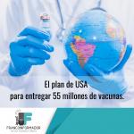 El plan de USA para entregar 55 millones de vacunas.