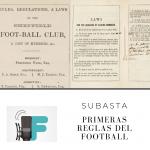 Subastan primeras reglas impresas del football.